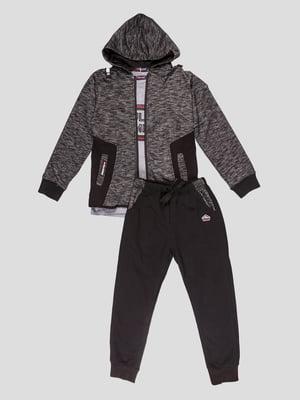 Комплект: толстовка, штани та лонгслів | 5096561