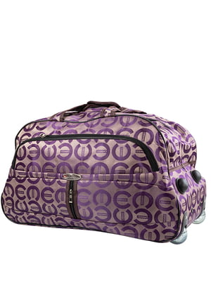 Сумка бежево-фіолетова | 5108705