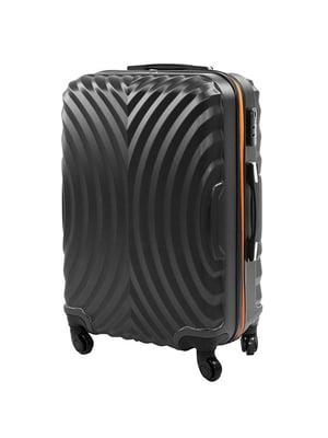 Чемодан черно-оранжевый | 5071350