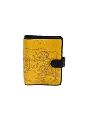 Визитница желтая с принтом | 5109228