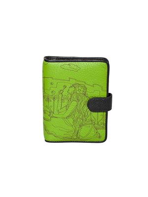 Візитниця зелена з принтом | 5109229
