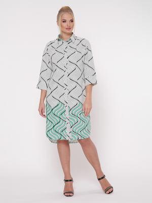 Платье белое с принтом | 5108933