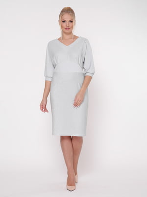 Платье серебристое | 5108957