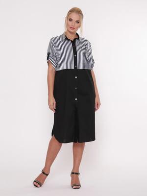 Сукня чорно-біла в смужку | 5108966