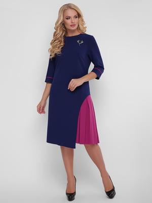 Платье сине-розовое | 5109083