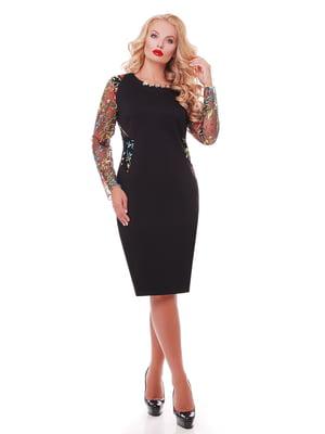 Платье черное с вышивкой   5108903