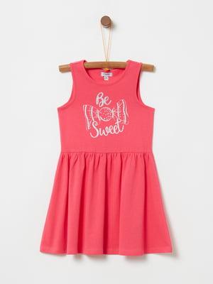 Платье красное с принтом | 5075222