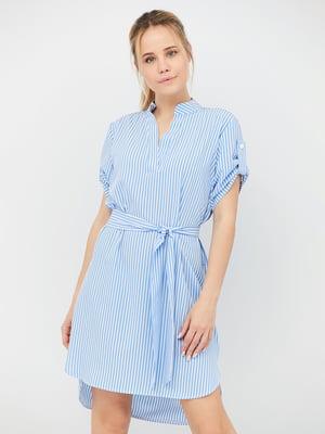 Сукня блакитна в смужку | 5109662