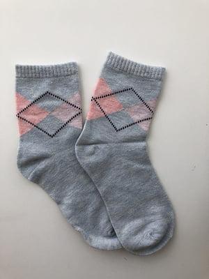 Шкарпетки сіро-блакитні | 5106883