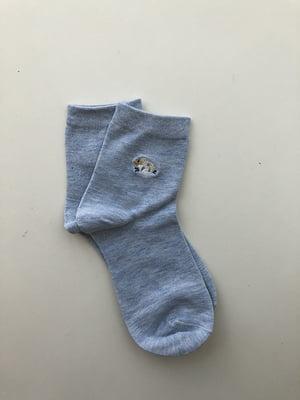 Шкарпетки блакитні з рисунком | 5106962