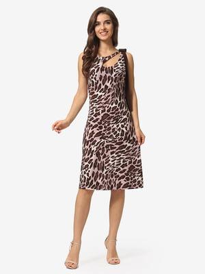 Платье в анималистичный принт | 5109979