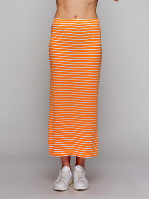 Юбка оранжевая в полоску | 5110391