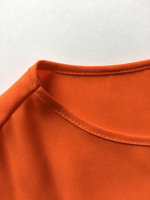 Блуза оранжевая с цветочным принто | 5110513