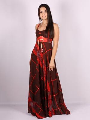 Платье черное в принт | 5106076