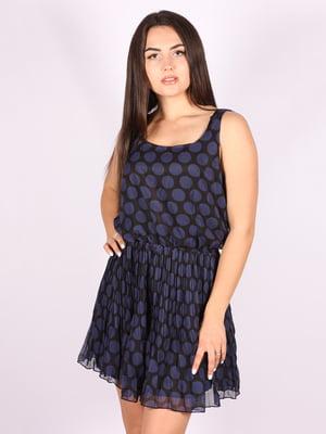 Платье синее в принт   5110939