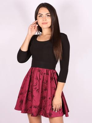 Платье черно-малиновое   5110952
