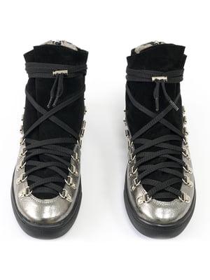 Ботинки черно-серебристые | 5111299