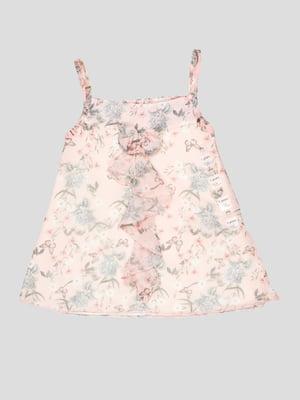 Сарафан розовый с принртом | 5109165