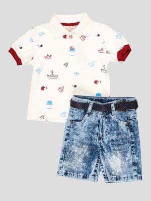 Комплект: футболка-поло і шорти | 5109162