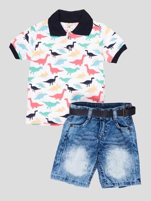 Комплект: футболка-поло і шорти | 5109163