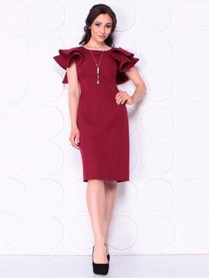 Сукня бордова | 5111599