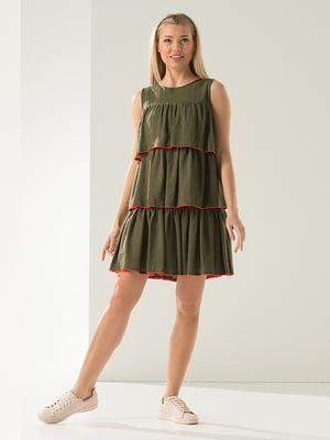 Платье оливкового цвета   4973659