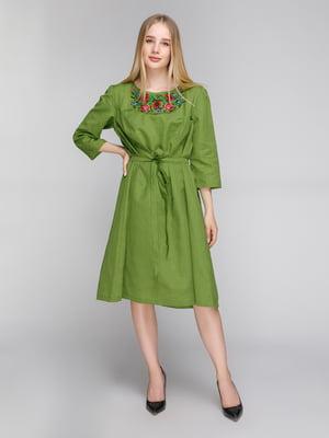 Сукня зелена з вишивкою   5082325