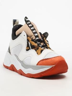 Кросівки біло-помаранчеві | 5108273