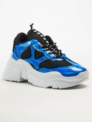 Кроссовки черно-голубые | 5108271