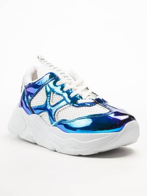 Кросівки біло-блакитні | 5108294