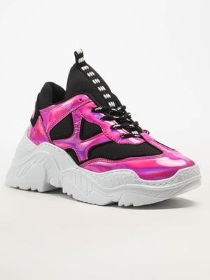 Кросівки чорно-рожеві | 5108267