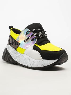 Кроссовки черно-желтые | 5108297