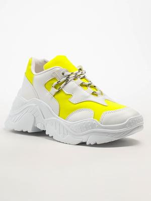 Кросівки біло-жовті | 5108285
