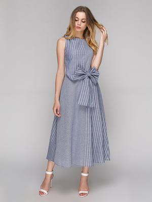 Платье голубое в полоску | 5108441