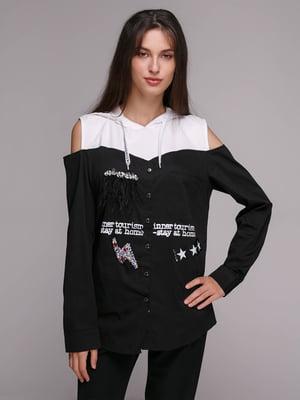 Блуза чорно-біла   5106188