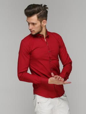 Рубашка бордовая | 5086433