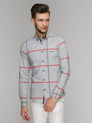 Рубашка серая в клетку | 5086459