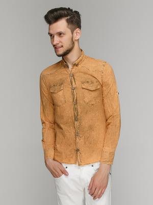 Рубашка горчичного цвета | 5086393