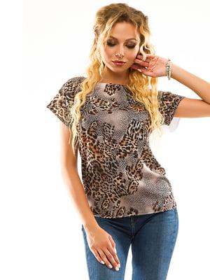 Блуза анімалістичного забарвлення | 5114015