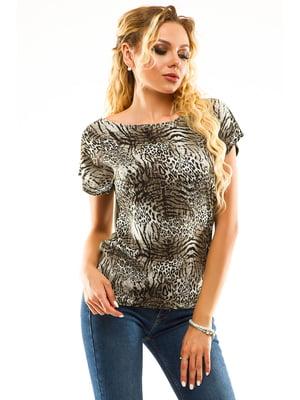 Блуза анималистичной расцветки | 5114017