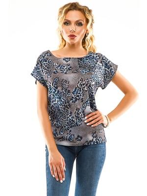 Блуза анімалістичного забарвлення | 5114019