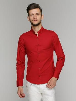 Рубашка бордовая | 5086481