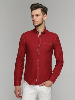 Рубашка бордовая | 5086387