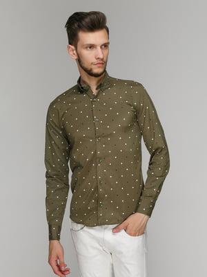 Рубашка цвета хаки   5086479