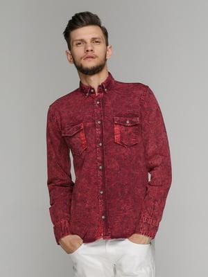 Рубашка бордовая | 5086375