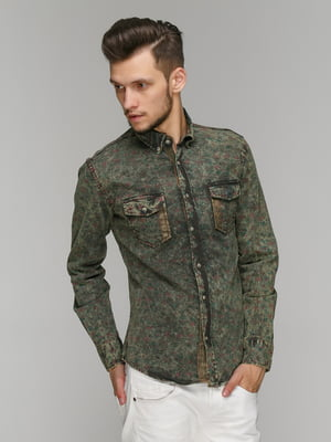 Рубашка зеленая | 5086376