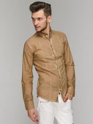 Рубашка песочного цвета | 5086468