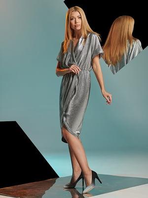 Платье серебристое | 5109832