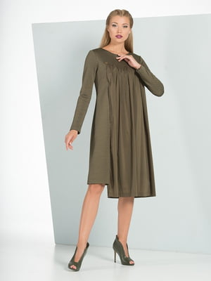 Платье цвета хаки | 5109836