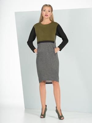 Платье оливкового цвета | 5109840